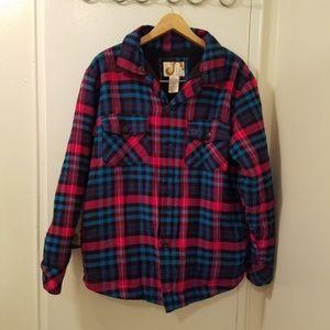 Mens op flannel fleece jacket